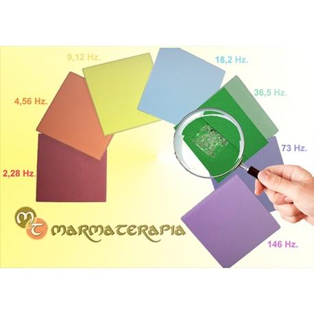 MT 700, siete placas frecuenciales de colores